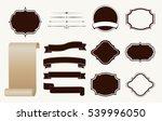 vintage design elements set. | Shutterstock .eps vector #539996050