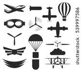 aviation aircraft black vector... | Shutterstock .eps vector #539997586