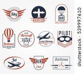 aviation aircraft sky club... | Shutterstock .eps vector #539997610