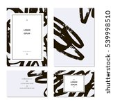 set of business cards. dry... | Shutterstock .eps vector #539998510