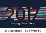 happy new year 2017 background. ... | Shutterstock . vector #539998960