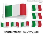 flag of italy is embroidered on ... | Shutterstock .eps vector #539999638