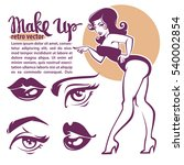 retro beauty collection  pinup... | Shutterstock .eps vector #540002854