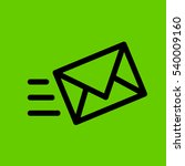 send message icon.flat disign