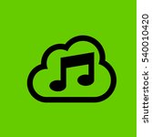 cloud with music icon flat...