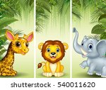 set of three african animals   | Shutterstock .eps vector #540011620