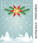 merry christmas and happy new... | Shutterstock .eps vector #540016864