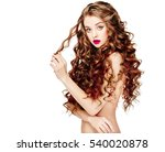 beautiful people. curly hair.... | Shutterstock . vector #540020878
