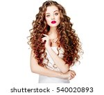 beautiful people. curly hair.... | Shutterstock . vector #540020893