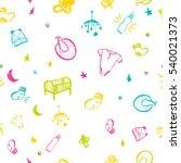 newborn baby necessities...   Shutterstock . vector #540021373