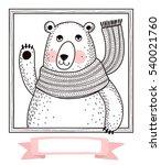 cute cartoon bear. template... | Shutterstock .eps vector #540021760