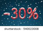 30 percents discount numbers... | Shutterstock .eps vector #540023008