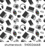 mobile gadgets and devices...   Shutterstock .eps vector #540026668