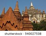 pagoda in bagan  myanmar | Shutterstock . vector #540027538
