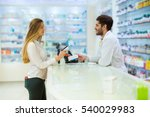 experienced pharmacist... | Shutterstock . vector #540029983