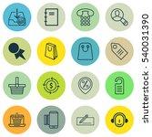 set of 16 e commerce icons.... | Shutterstock .eps vector #540031390