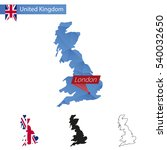 united kingdom blue low poly... | Shutterstock . vector #540032650