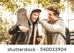 young happy brothers having fun ... | Shutterstock . vector #540033904