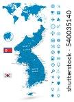 detailed map of korean...   Shutterstock .eps vector #540035140
