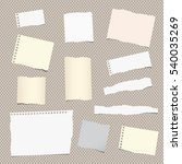 pieces of different size ripped ... | Shutterstock .eps vector #540035269