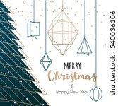 geometric christmas tree... | Shutterstock .eps vector #540036106