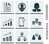 set of 9 management icons.... | Shutterstock .eps vector #540040480