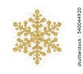 gold glitter christmas... | Shutterstock .eps vector #540044920