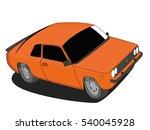 Classic Car Vector Orange