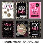 set of social media sale... | Shutterstock .eps vector #540047200