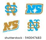 letter s and n monogram...   Shutterstock .eps vector #540047683