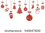 christmas hanging ornaments... | Shutterstock . vector #540047830