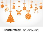 hanging christmas ornaments | Shutterstock . vector #540047854