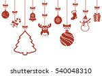 various christmas hanging... | Shutterstock . vector #540048310