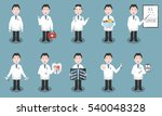 set of vector cartoon doctor... | Shutterstock .eps vector #540048328