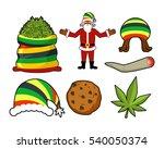 christmas icons set. santa... | Shutterstock . vector #540050374