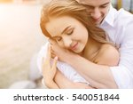 man and woman posing on the... | Shutterstock . vector #540051844