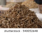 Small photo of Pile of dried anchovies displayed for sale at local maket in Tambunan, Sabah, Malaysia. Dried anchovies are high in calcium and can add up to the taste of food they are cooked with.
