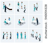 set isometric health care... | Shutterstock .eps vector #540054328