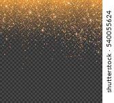 gold glitter stardust... | Shutterstock .eps vector #540055624