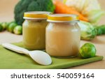 glass jars with natural baby... | Shutterstock . vector #540059164