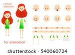 character design for animation. ... | Shutterstock . vector #540060724