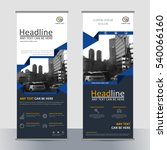 set business roll up banner... | Shutterstock .eps vector #540066160