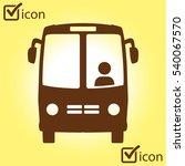 bus icon. schoolbus simbol. | Shutterstock .eps vector #540067570
