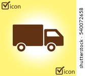 delivery truck sign icon. cargo ...