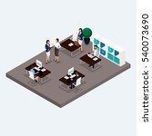 isometric room multistoried... | Shutterstock .eps vector #540073690