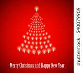 shining new year tree made of... | Shutterstock .eps vector #540079909