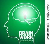 human brain logo neurology... | Shutterstock .eps vector #540079990