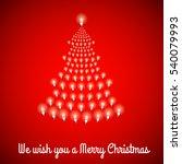 shining christmas tree made of... | Shutterstock .eps vector #540079993