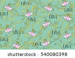 seamless pattern in vintage... | Shutterstock .eps vector #540080398