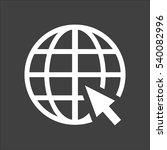 globe web icon flat. vector... | Shutterstock .eps vector #540082996